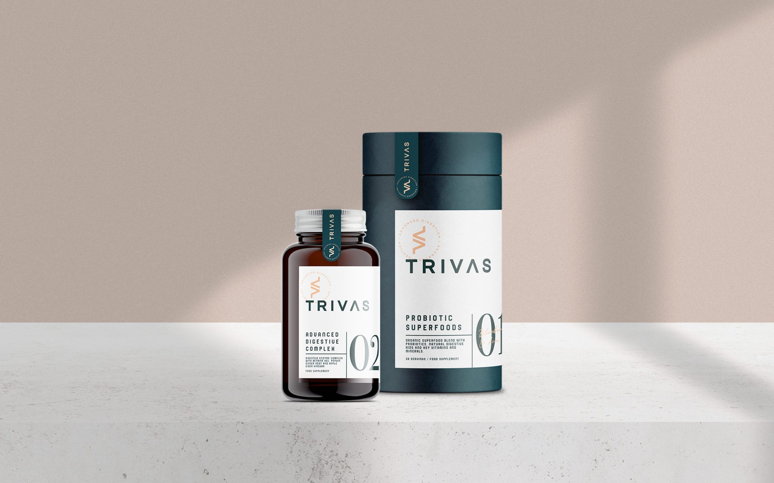 Trivas Advanced Digestive complext product mock up